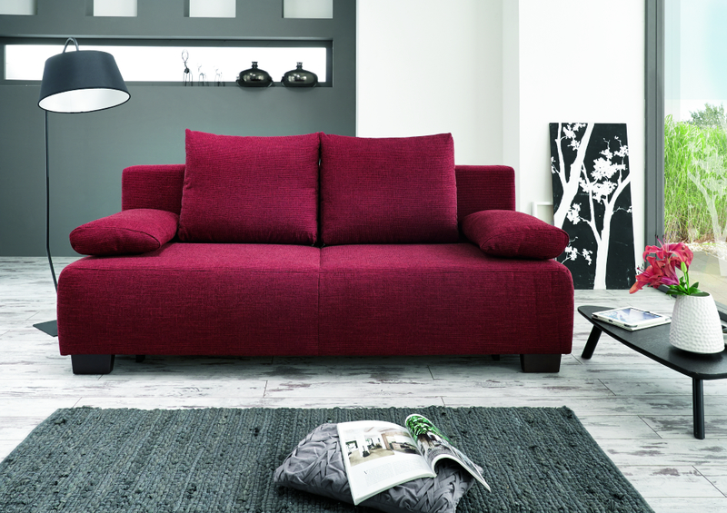 Rote Stoff 2-Sitzer Couch